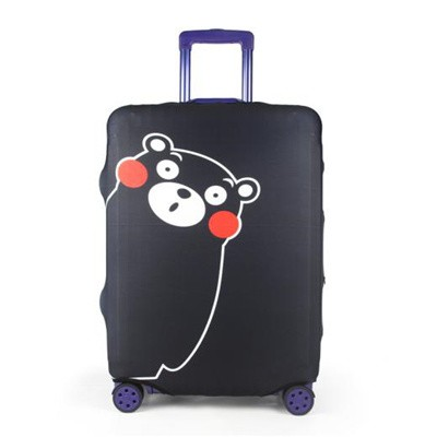 Travel With Us Luggage Cover Size S - Kumamon Black