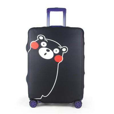 Travel With Us Luggage Cover Size M - Kumamon Black