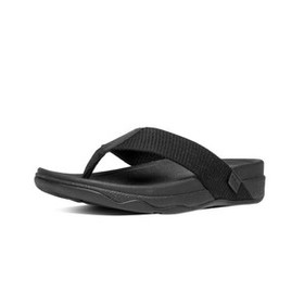 Fitflop SURFER(B11-090), ALL BLACK, 12, SLIPPERS, MN