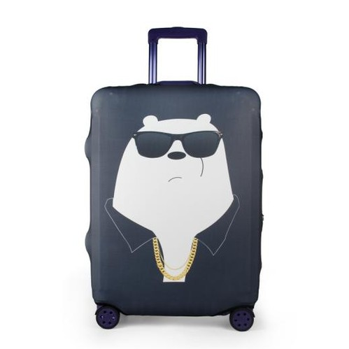 Travel With Us Luggage Cover SIZE M - Big Bear Black