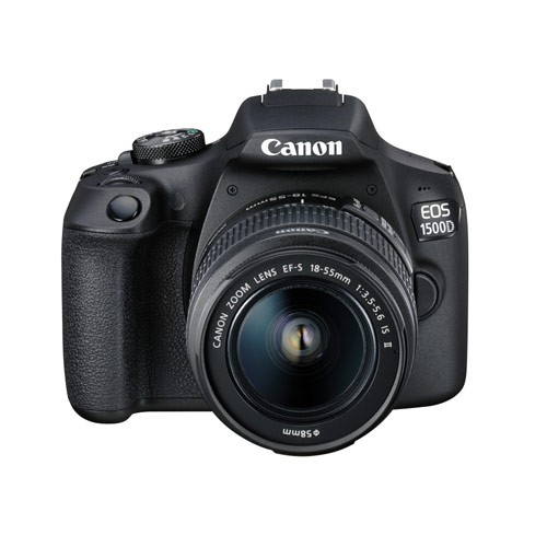 Canon EOS 1500D DSLR Camera with kit 18-55 IS II Lens - Black