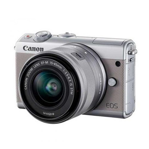Canon EOS M100 Mirrorless Camera with 15-45mm Lens - Grey