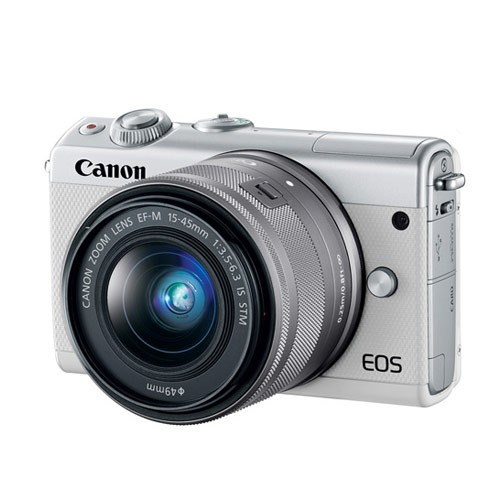 Canon EOS M100 Mirrorless Camera with 15-45mm Lens - White