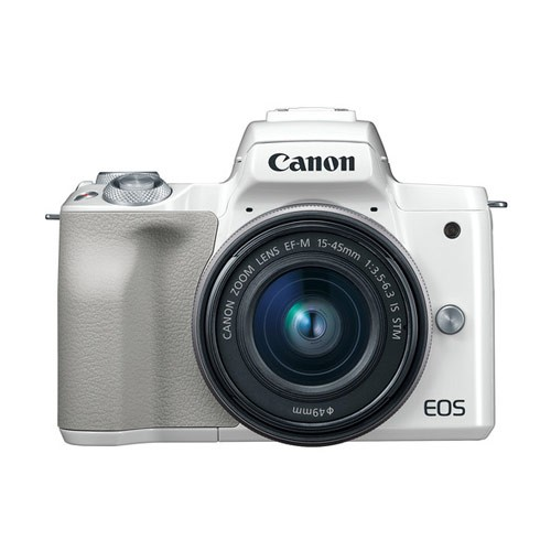 Canon EOS M50 Mirrorless Digital Camera with Lens 15-45mm - White