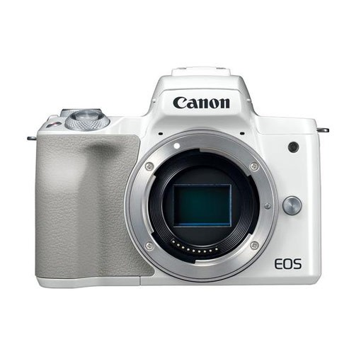 Canon EOS M50 Mirrorless Digital Camera Body Only - White
