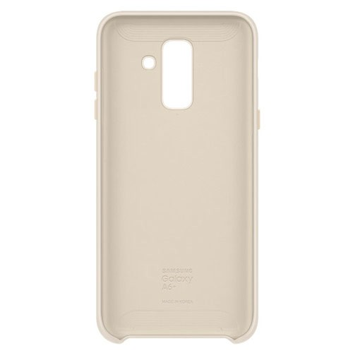Samsung Dual Layer Cover for Galaxy A6+ (2018 Edition) - Gold