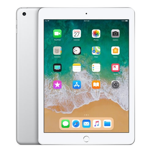 Apple iPad 6 - 9.7 inch Wi-Fi Only 128GB (2018 Edition) - Silver