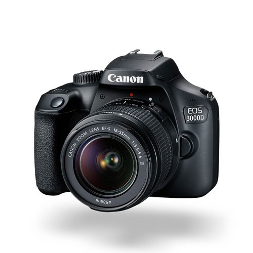 Canon EOS 3000D DSLR Camera with Kit 18-55 III DC Lens