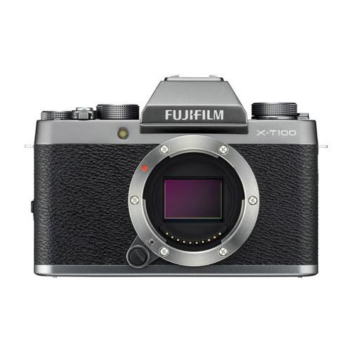 Fujifilm Mirrorless Digital Camera X-T100 Body Only -  Dark silver