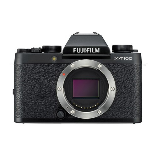 Fujifilm Mirrorless Digital Camera X-T100 Body Only - Black