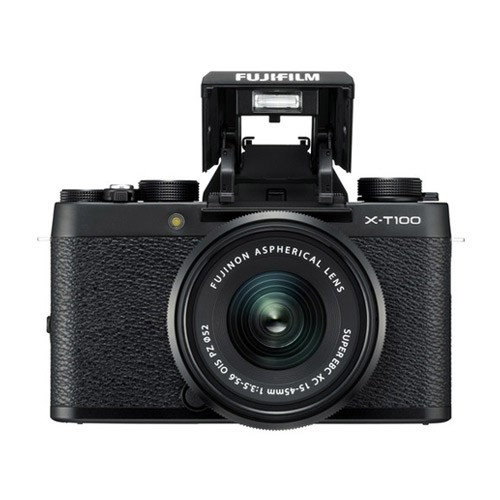 Fujifilm Mirrorless Digital Camera X-T100 with 15-45mm Lens - Black