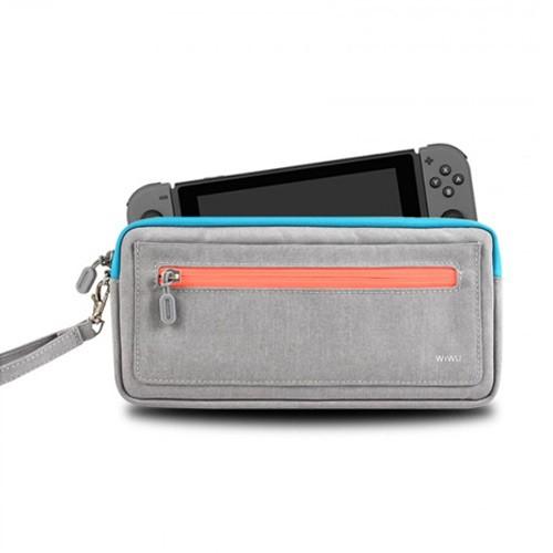 Wiwu Travel Case Slim Waterproof Storage Bag for Nintendo Switch GM1815 - Grey