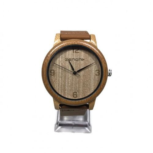 Zenon Premium Real Bamboo Waterproof Wooden Japan Quartz Movement Watch - A25 - Men
