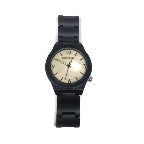 Zenon Premium Real Ebony Waterproof Wooden Japan Quartz Movement Watch - B23 - Men - Jam Tangan Kayu Unik