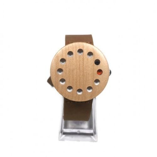 Zenon Premium Real Bamboo Waterproof Wooden Japan Quartz Movement Watch - C10 - Women
