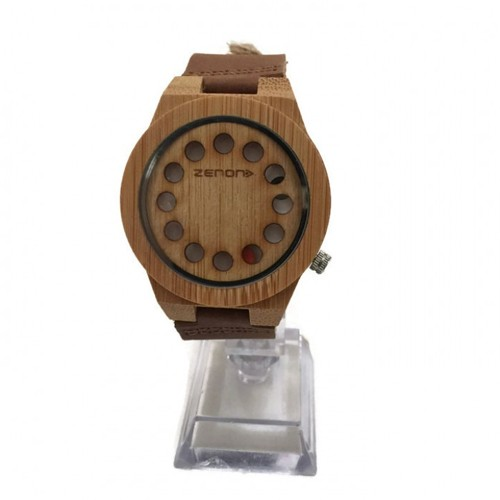 Zenon Premium Real Bamboo Waterproof Wooden Japan Quartz Movement Watch - D08 - Men - Jam Tangan Kayu Unik