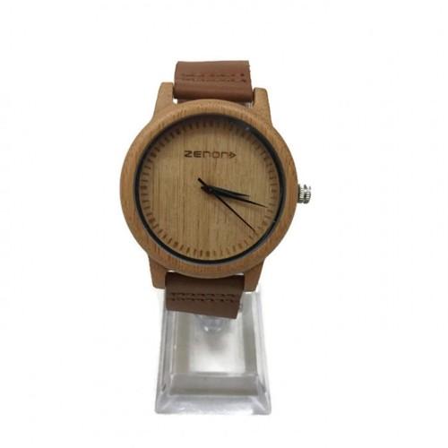 Zenon Premium Real Bamboo Waterproof Wooden Japan Quartz Movement Watch - E15 - Men