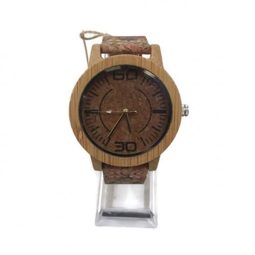 Zenon Premium Real Bamboo Waterproof Wooden Japan Quartz Movement Watch - E26 - Men