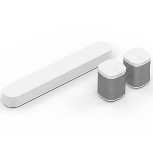 Sonos 5.0 Surround Sound Set with Beam Wireless HiFi System - White