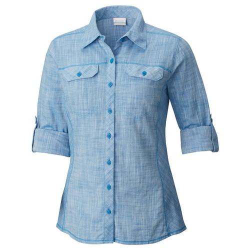 Columbia Camp Henry Long Sleeve Shirt Dark Cyan Chambray (XL) APPAREL WN
