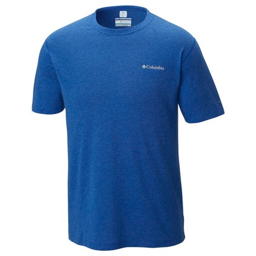 Columbia Silver Ridge Zero Short Sleeve Shirt Azul Heather (M)