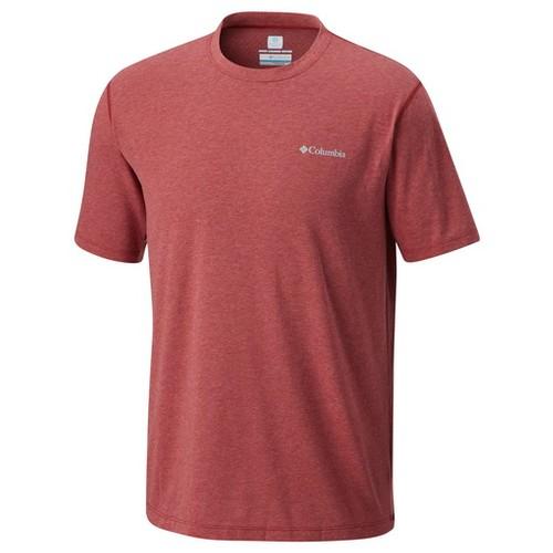Columbia Silver Ridge Zero Short Sleeve Shirt Red Element Heather (XL)