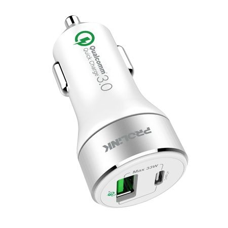 Prolink Car Charger 33W 2-Port with Quick Charge 3.0 PCC23301