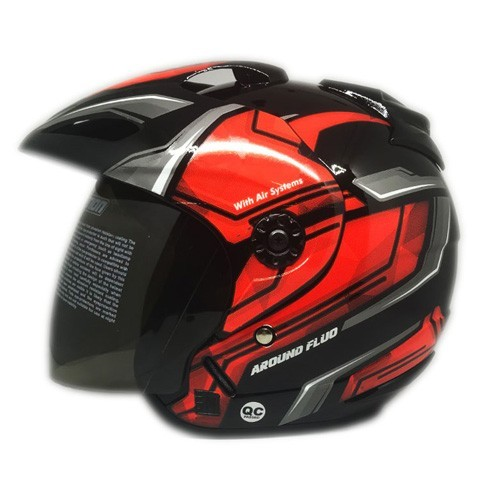 Venom Helm Around - Black Orange Fluo