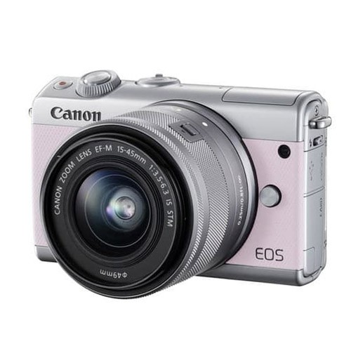 Canon EOS M100 Mirrorless Camera with 15-45mm Lens - Pink