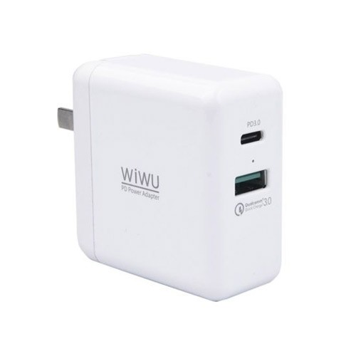 Wiwu Travel Wall Charger with Power Delivery & Fast Charging QC08 - White