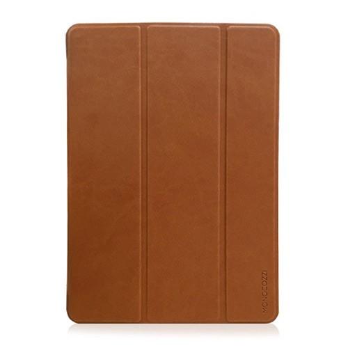 Monocozzi Lucid Folio Flip Case for iPad 9.7 inch (2018 Edition) - Tan