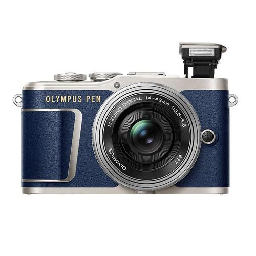 Olympus Pen Mirrorless Digital Camera E-PL9 with M. Zuiko 14-42mm EZ - Limited Edition Blue