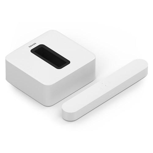 Sonos 3.1 Sub With Beam Wireless HiFi System - White