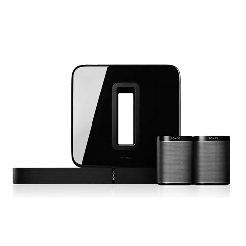Sonos 5.1 Surround Sound Package with PLAYBASE and PLAY 1