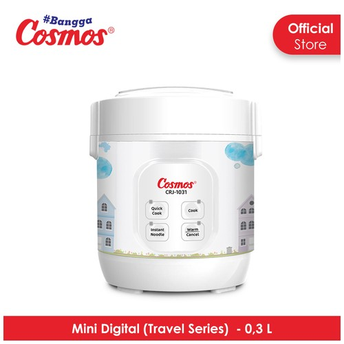 Cosmos CRJ-1031 - Digital Rice Cooker 0.3 L (Travel Series)
