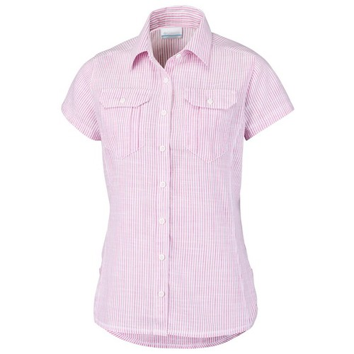 Columbia Camp Henry Short Sleeve Soft Violet Chambray (XL) Apparel WN