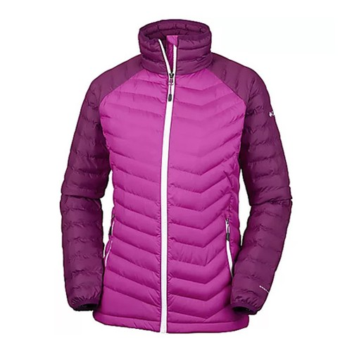 Columbia Powder Lite Jacket Deep Blush Dark Raspberry (L) Apparel WN