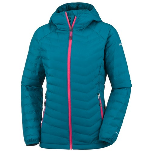 Columbia Powder Lite Hooded Jacket Phoenix Blue (L) Apparel WN