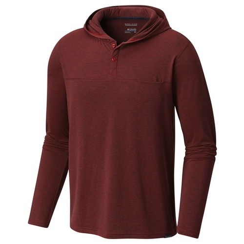 Columbia Whiskey Point Hooded Shirt Red Element (XL) Apparel MN