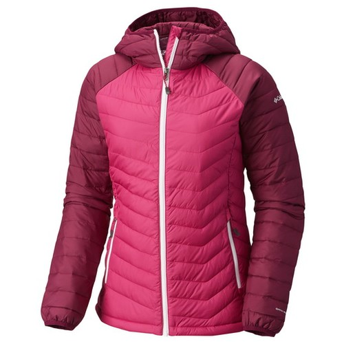 Columbia Powder Lite Hooded Jacket Deep Blush Dark Raspberry (L) Apparel WN