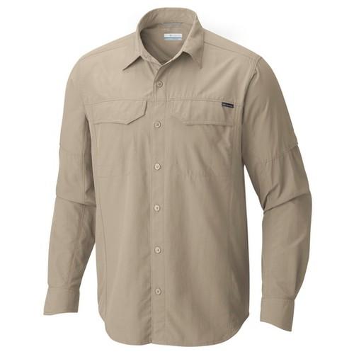 Columbia Silver Ridge Long Sleeve Shirt Fossil (XL) APPAREL MN