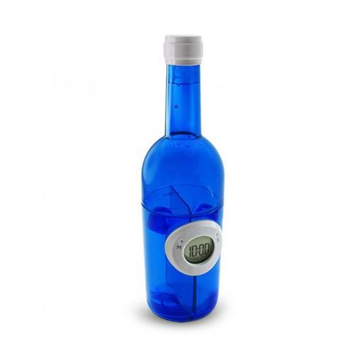 Digital Water Power Clock Wine Bottle ST-1003-J - Blue
