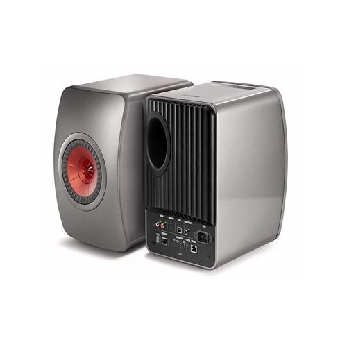 KEF LS50 Wireless Speaker - Titanium Grey/Red