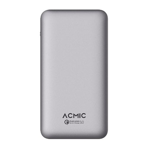 ACMIC Power Bank A10PRO 10.000 mAh with Quick Charge 3.0 + Power Delivery - Silver