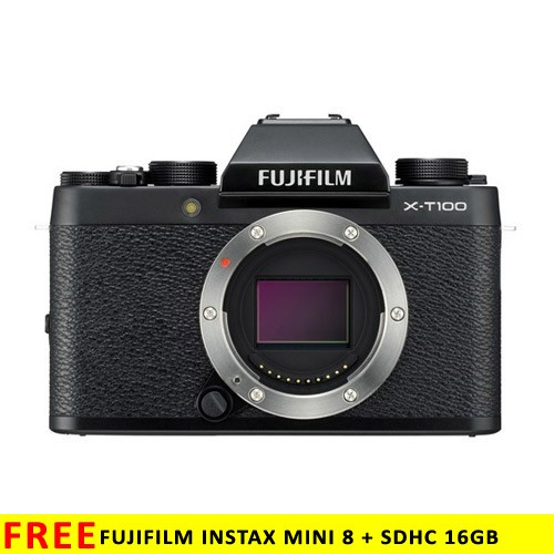 Fujifilm Mirrorless Digital Camera X-T100 Body Only - Black