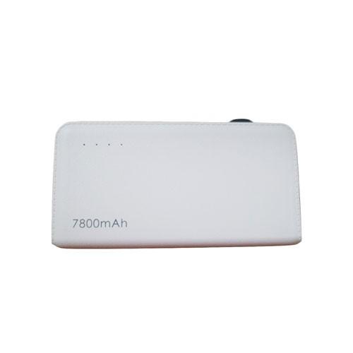 Bcare Slim Leather Texture Power Bank 7800 mAh - White