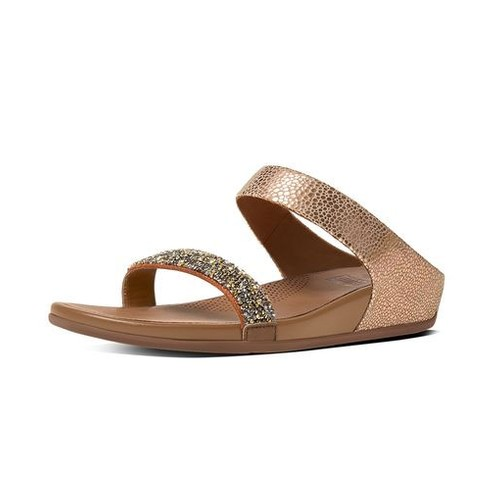 2cafa6ae5 Fitflop Banda Roxy Slide Women Sandal - Bronze (5)