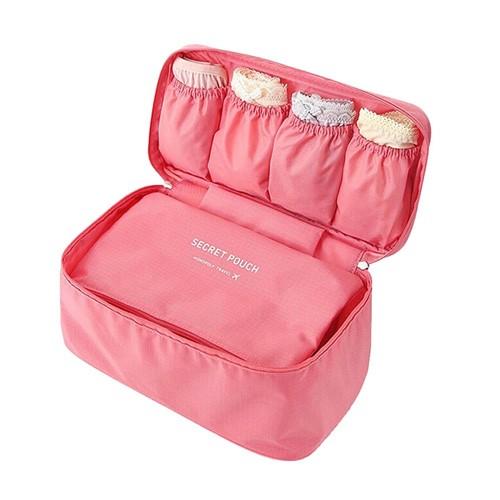 Monopoly Travel Bra & Underwear Organizer Tas Bra Pakaian dalam Travel - Pink