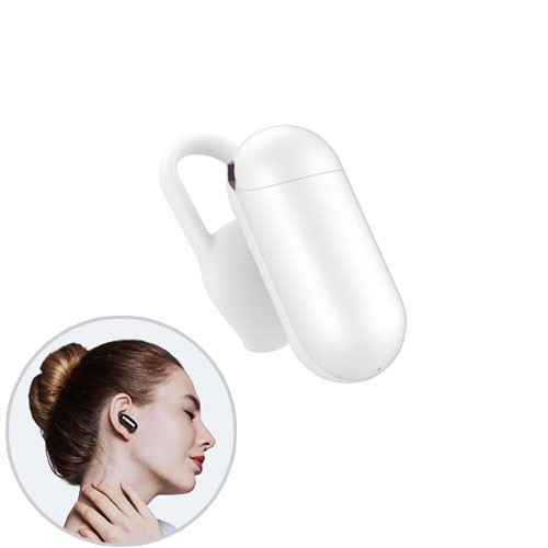 QCY Q12 Mini Bluetooth Headset Wireless Earphone and Microphone - White