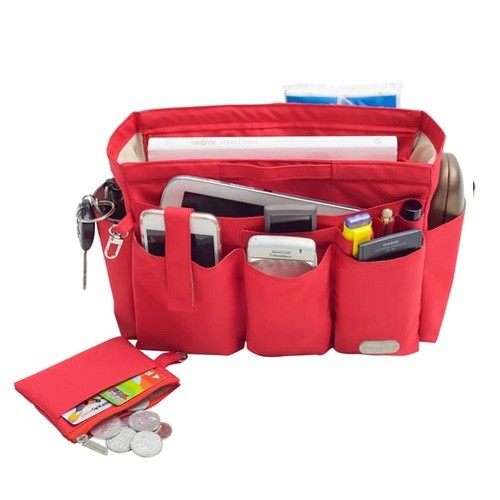 Axella Handbag Organizer 29.5 x 15 x 18.5 - Red